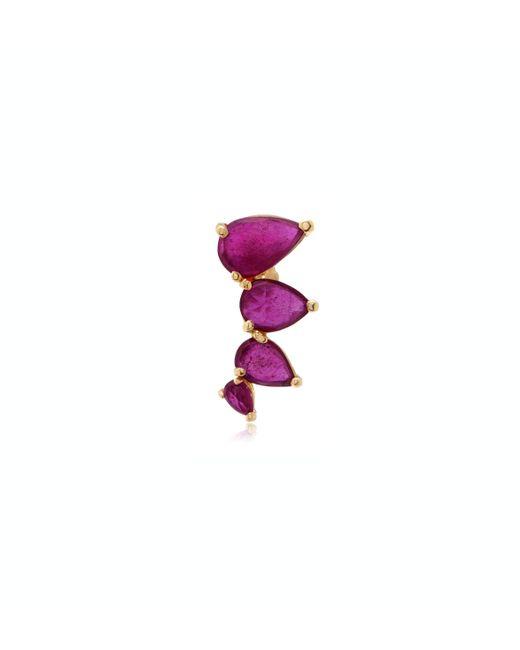 Jacquie Aiche | Red Ruby Teardrop Ear Cuff | Lyst