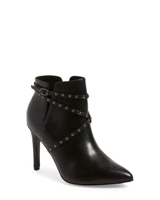 topshop humour studded leather boots in black black