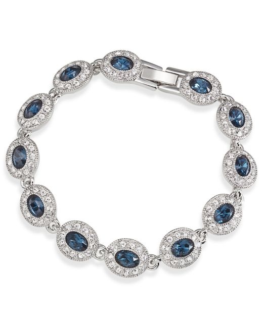 Carolee | Metallic Silver-tone Oval Stone Flex Bracelet | Lyst