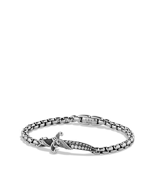 David Yurman | Metallic Pavé Cross Bracelet With Black Diamonds for Men | Lyst