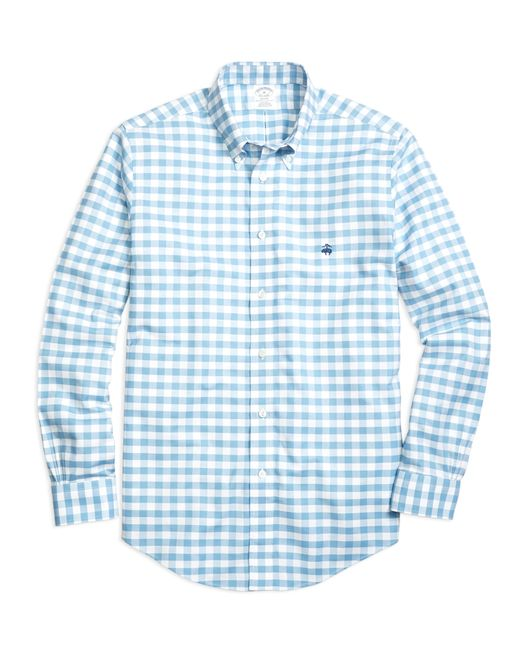 Brooks Brothers | Blue Non-iron Regent Fit Gingham Sport Shirt for Men | Lyst
