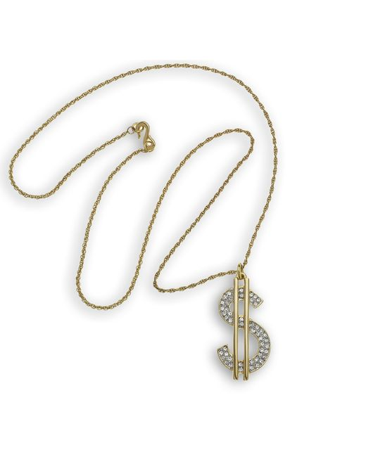 Kenneth Jay Lane | Metallic Dollar Sign Necklace | Lyst