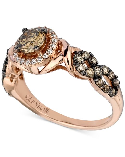 Le Vian | Pink Chocolatier® Diamond Ring (9/10 Ct. T.w.) In 14k Rose Gold | Lyst