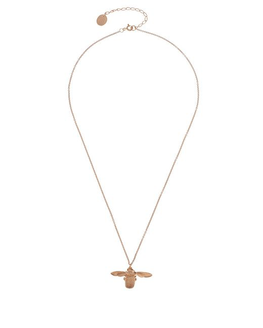 Alex Monroe | Metallic Gold Plated Swooping Swallow Pendant Necklace | Lyst