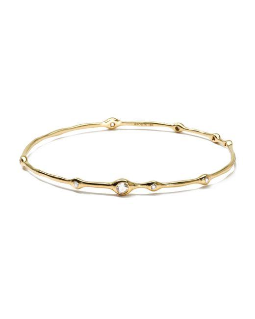 Ippolita | Metallic 18k Gold 9-diamond Bangle (0.5ctw) | Lyst