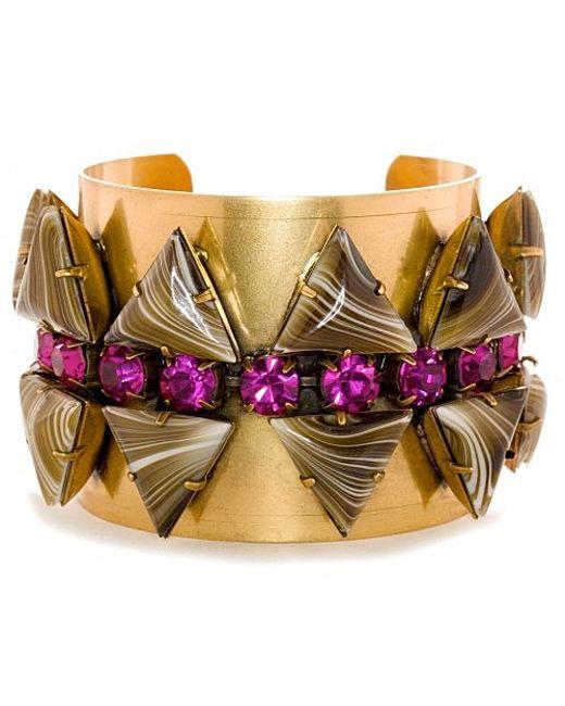 Nicole Romano | Metallic Truss Cuff | Lyst