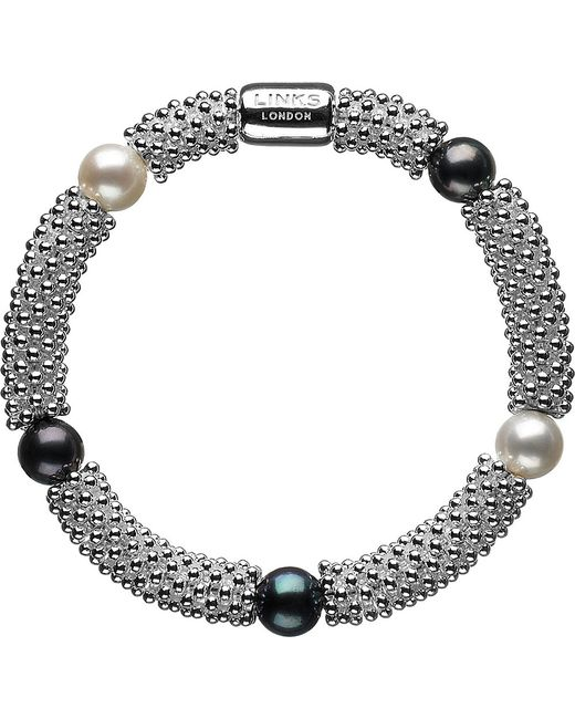 Links of London | Metallic Effervescence Star Sterling Silver Pearl Bracelet | Lyst