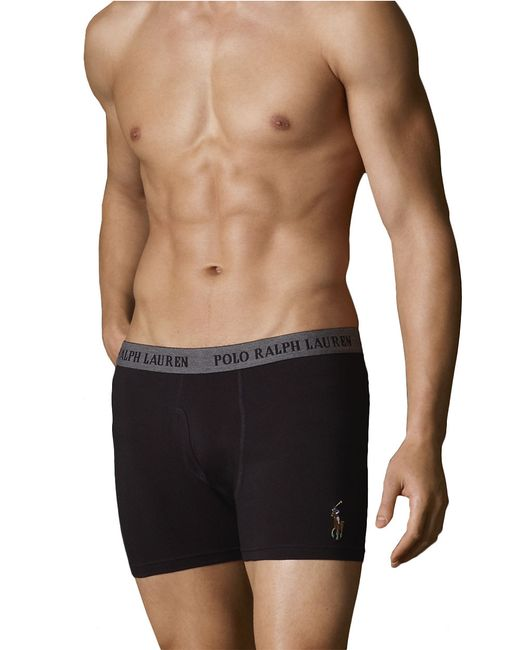polo ralph lauren boxer briefs in black for men lyst. Black Bedroom Furniture Sets. Home Design Ideas