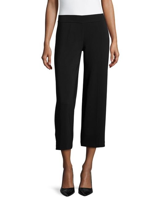 Avenue Montaigne | Black Alex Wide-Leg Crop Pants | Lyst