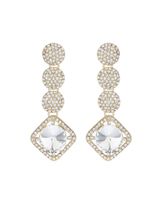 Mikey | Metallic Multi Round Crystal Drops Earring | Lyst