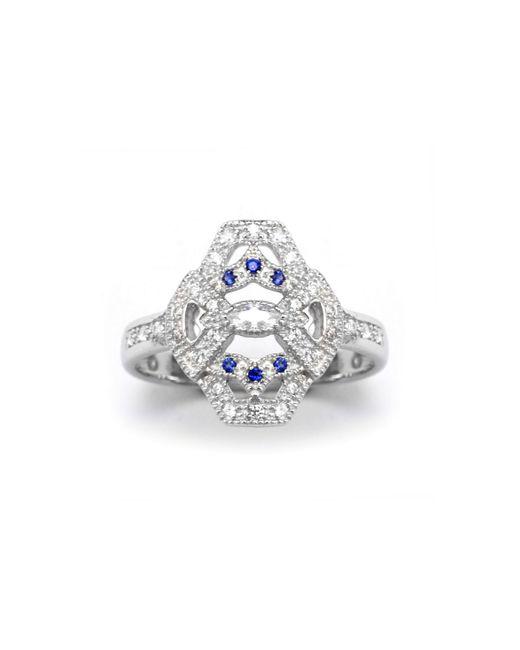 V Jewellery   Blue Mythos Evil Eye Ring   Lyst