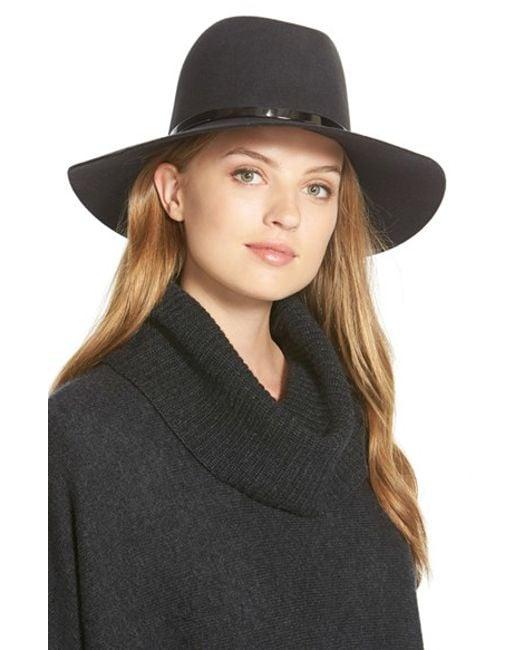Janessa Leone | Gray 'slate' Floppy Wool Felt Hat | Lyst