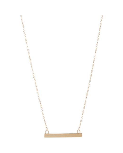 Loren Stewart   Metallic Gold Baby Bar Pendant Necklace   Lyst