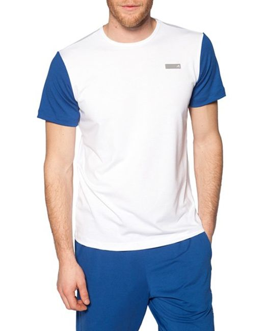 Redvanly 39 Laight 39 Drielease Athletic T Shirt In Blue For