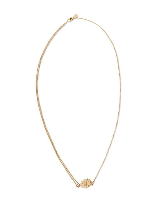 ALEX AND ANI | Metallic Precious Metals Symbolic Lotus Peace Petals Pull Chain Necklace, 10-24"