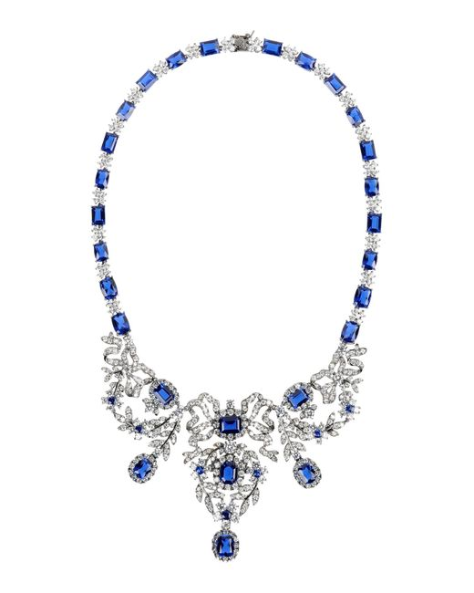 CZ by Kenneth Jay Lane | Blue Necklace | Lyst