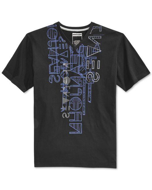 Sean John | Black Men's Linear Reduction T-shirt for Men | Lyst