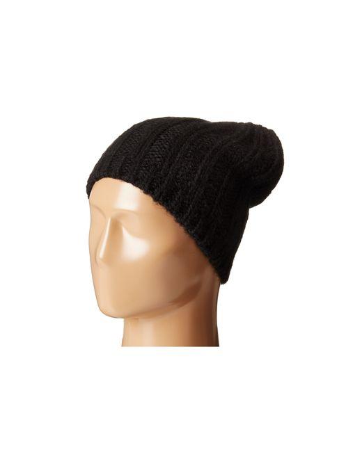 Hat Attack | Slouchy Beanie Hat - Black | Lyst