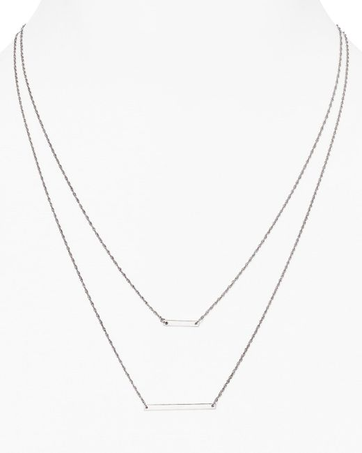 Jennifer Zeuner | Metallic Cynthia Pendant Necklace, 17"
