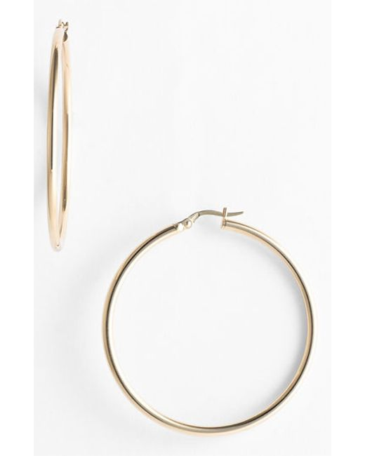 Roberto Coin | Yellow 45mm Gold Hoop Earrings | Lyst