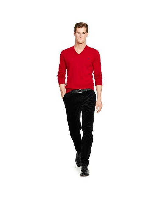 Polo Ralph Lauren | Black Slim-fit Stretch Corduroy Pant for Men | Lyst