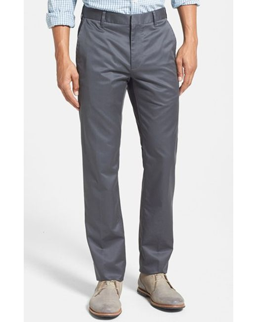 Bonobos | Gray 'weekday Warrior' Non-iron Slim Fit Cotton Chinos for Men | Lyst