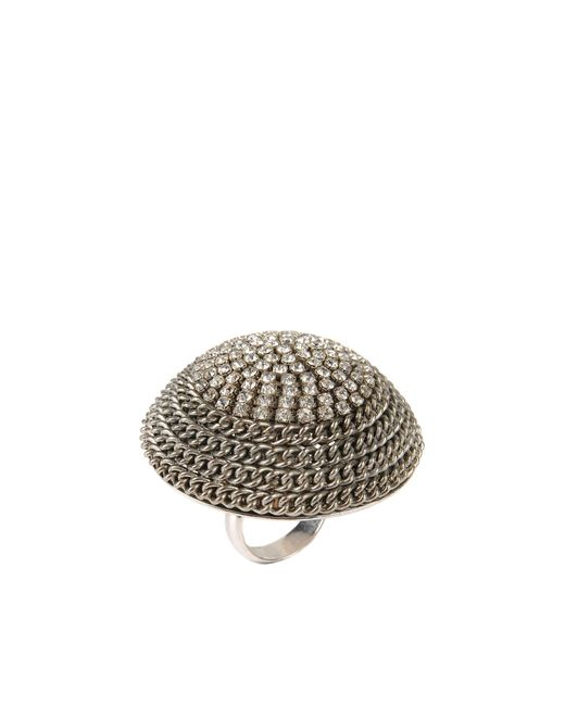 Noir Jewelry | Metallic Ring | Lyst
