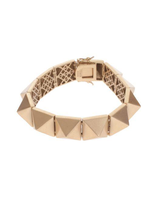 Eddie Borgo | Metallic Large Matte Pyramid Bracelet | Lyst