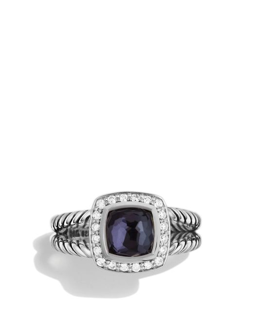 David Yurman | Petite Albion Ring With Black Orchid & Diamonds | Lyst