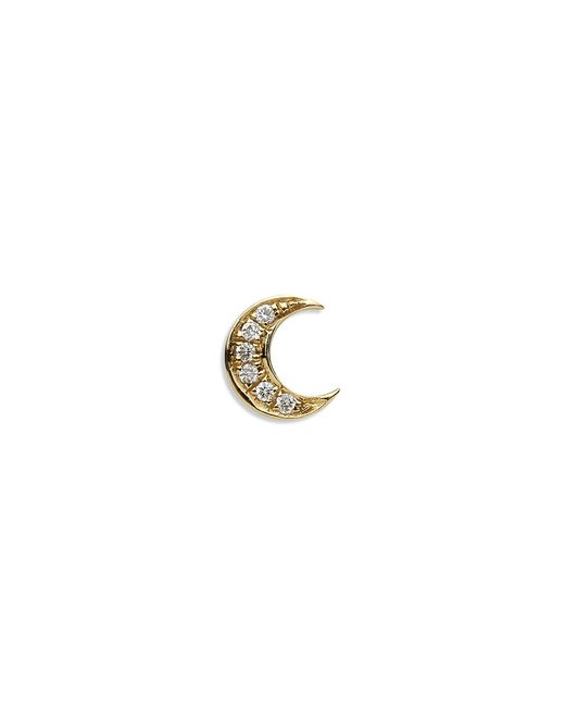 Loquet London | Metallic 18k Yellow Gold Diamond Moon Charm - Intuition | Lyst