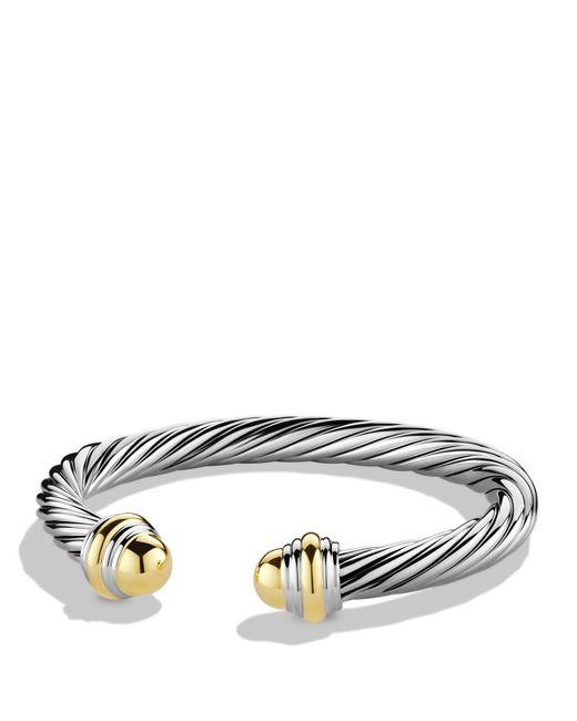 David Yurman | Metallic Cable Classics Bracelet With Gold | Lyst