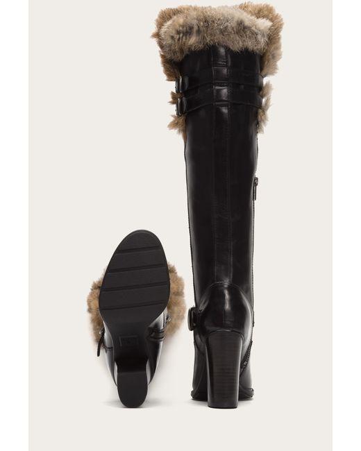 Frye | Black Penny Luxe Moto Tall Shearling | Lyst