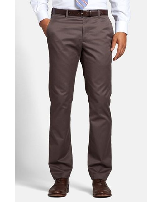Bonobos | Brown 'weekday Warriors' Non-iron Slim Fit Cotton Chinos for Men | Lyst