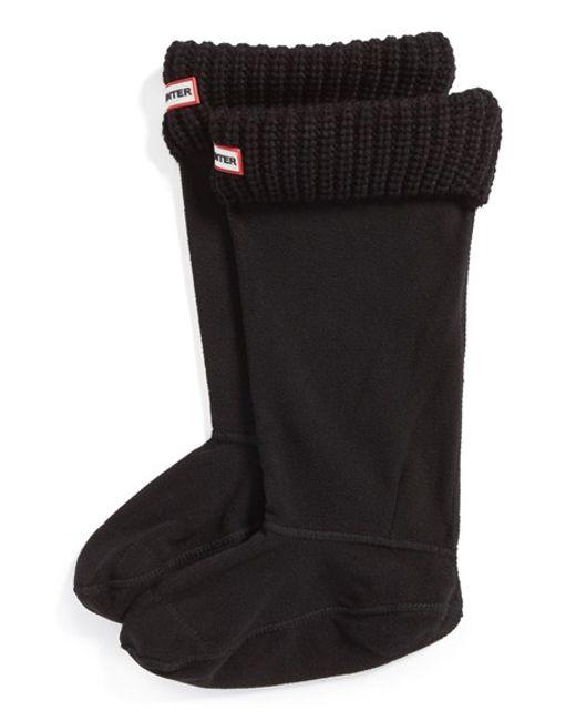 Hunter | Black Tall Cardigan Knit Cuff Welly Boot Socks | Lyst