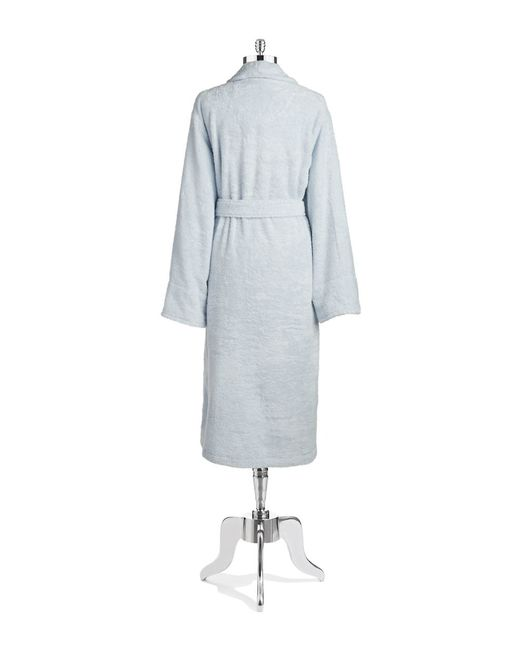 Lord & Taylor | Blue Cotton Terry Robe | Lyst