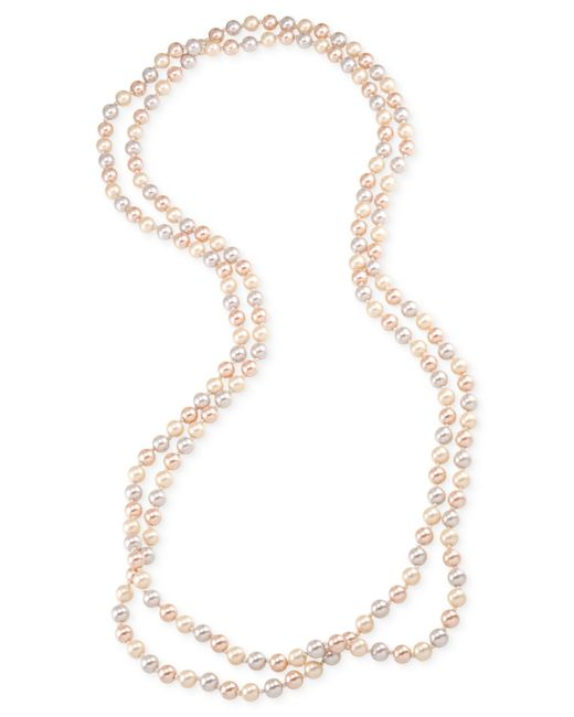 Carolee | Pink Imitation Pearl Extra Long Necklace | Lyst