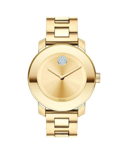 Movado | Metallic 'bold' Crystal Marker Bracelet Watch | Lyst