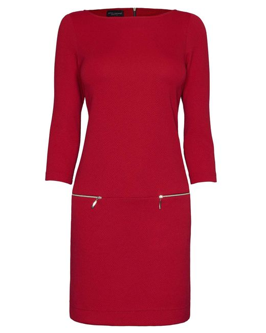 James Lakeland   Red Three Zips Dress   Lyst