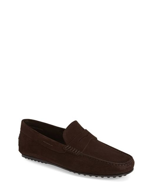 Tod's   Brown 'city' Penny Driving Shoe for Men   Lyst