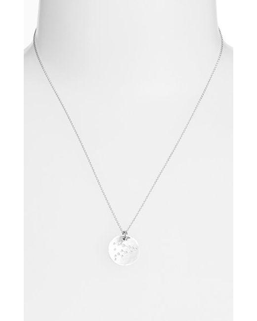 Nashelle | Metallic Ija 'small Zodiac' Sterling Silver Necklace | Lyst