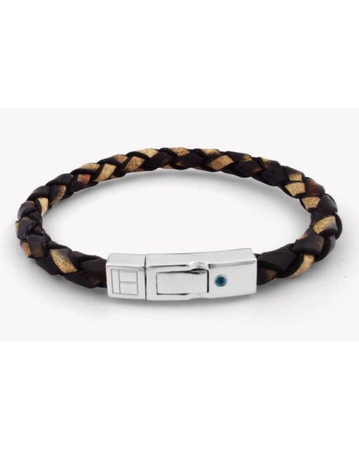 Tateossian | Amazonia Scoubidou Silver Bracelet In Brown for Men | Lyst
