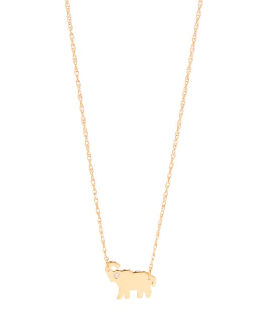 Jennifer Zeuner | Metallic Mini Elephant Necklace With Diamond | Lyst