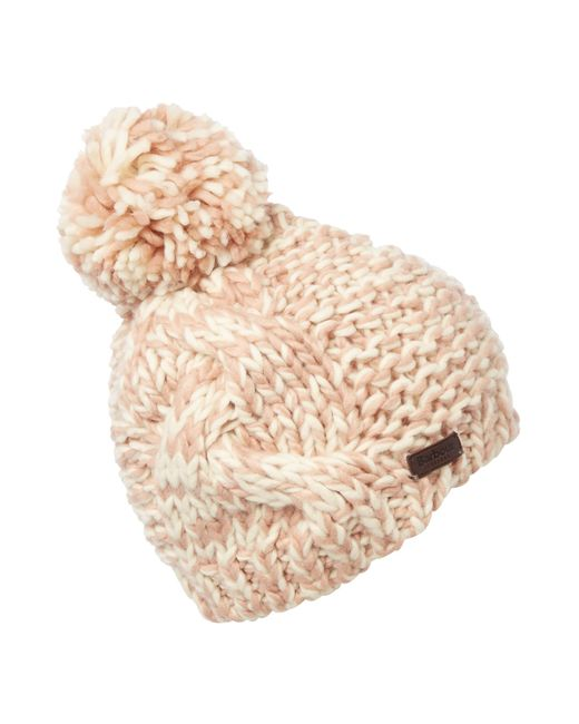 Barbour | Pink Clyde Bobble Hat | Lyst