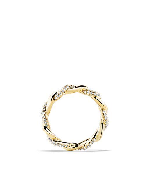 David Yurman | Metallic Wisteria Twist Ring With Diamonds In 18k Gold | Lyst