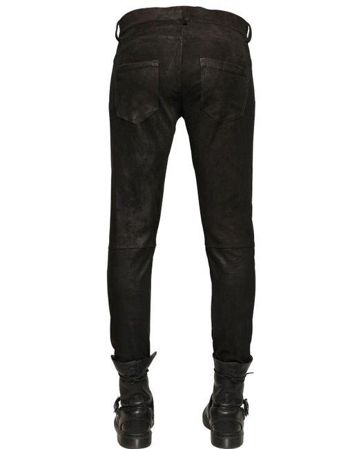 Giorgio Brato | Black Stretch Suede Pants for Men | Lyst
