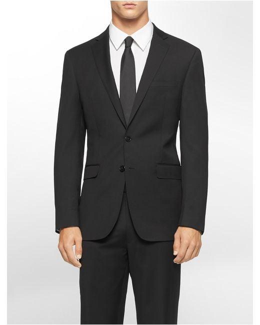 Calvin klein white label x fit ultra slim fit black suit for Calvin klein x fit dress shirt