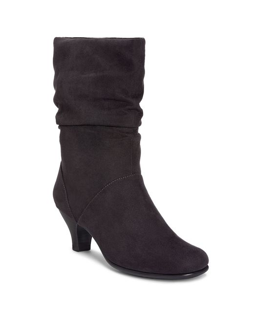 Aerosoles | Black Wisenshine Mid Shaft Boots | Lyst