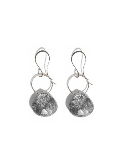 Melissa Joy Manning | Metallic Tourmalated Quartz Drop Earrings | Lyst