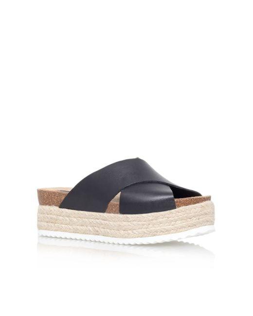 Carvela Kurt Geiger | Black Kool Flat Platform Slip On Sandals | Lyst