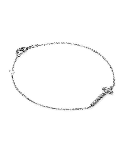 Theo Fennell | White Mini Spangle Cross Bracelet | Lyst